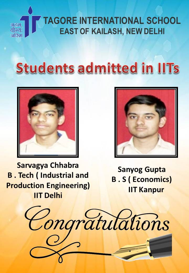 students admitted in IITs