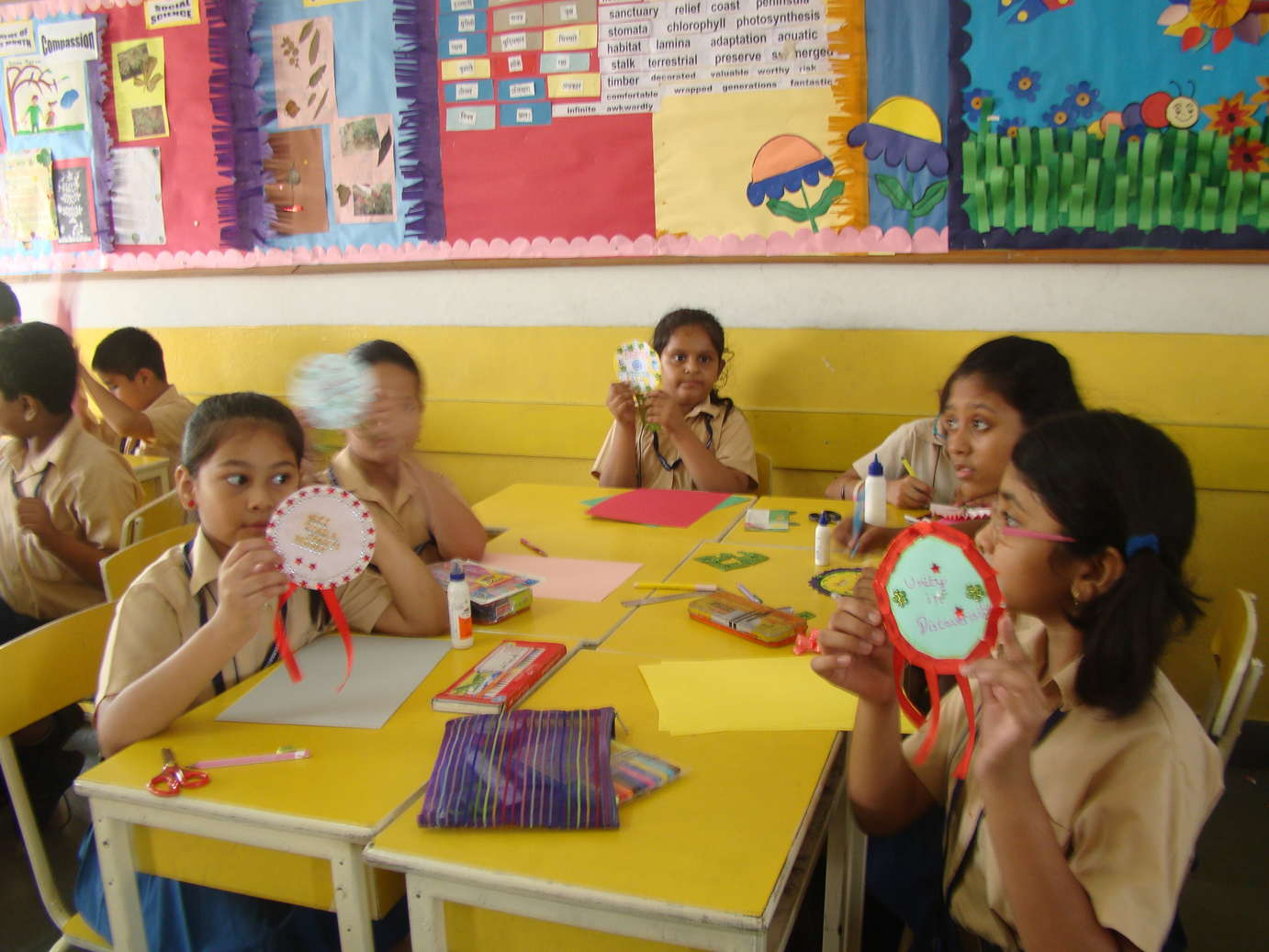 Intra class Badge making competition for the students of